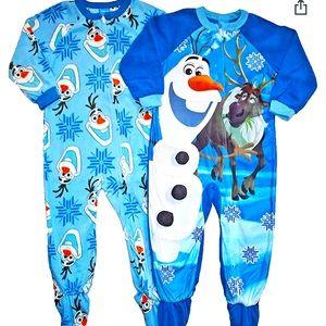 Disney boy 3T frozen Olaf zip up jammies